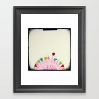 For the love of pins Framed Art Print