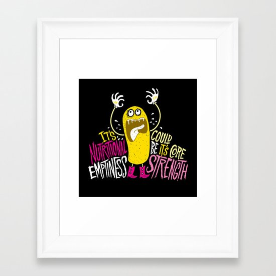 Twinkie. Emptiness. Framed Art Print