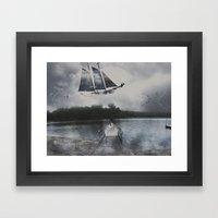 A Shipwreck Dream  Framed Art Print