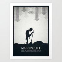 Margin Call - minimal poster Art Print