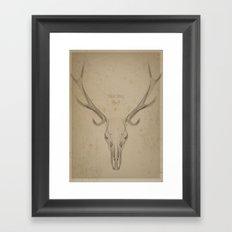 My Deer Skull Framed Art Print
