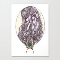 Bow and Butterfly Canvas Print