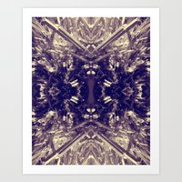 Psychedelic Stibnite  Art Print
