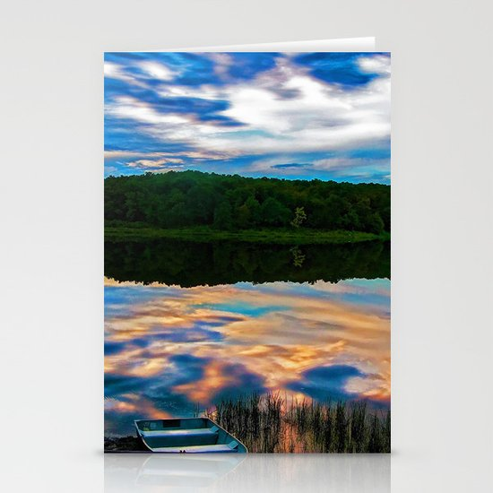 Evening Reflection Stationery Card