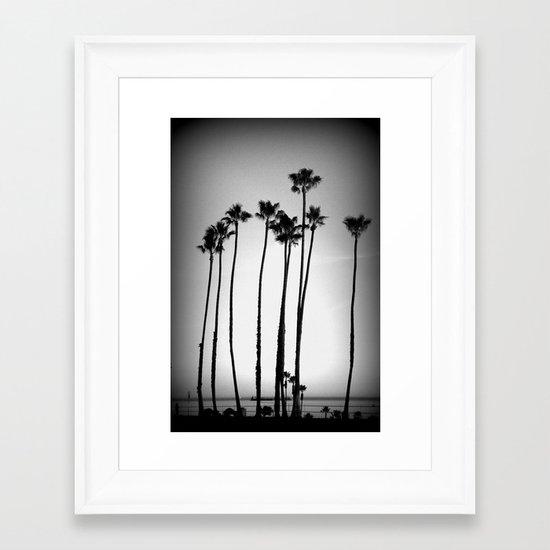 palm trees land Framed Art Print