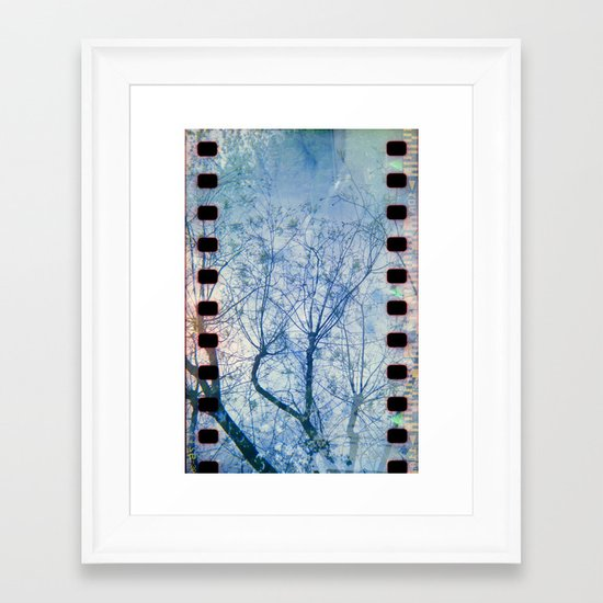 Blue Winter Blossoms  Framed Art Print