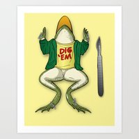 I think I knew this frog... Art Print