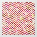 FLORAL CHEVRON Canvas Print
