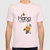 Pixar/Disney Wall-e Hang… Mens Fitted Tee Light Pink SMALL