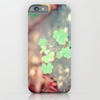 iPhone & iPod Case featuring Shamrocks by castle on a cloud