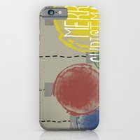 iPhone & iPod Case featuring Merry Christmas Ornaments by NC Stewart