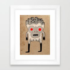 cardboard man Framed Art Print