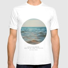 Swim The Sea SMALL White Mens Fitted Tee