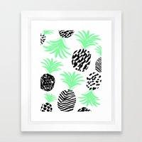 Classy Pineapples Framed Art Print