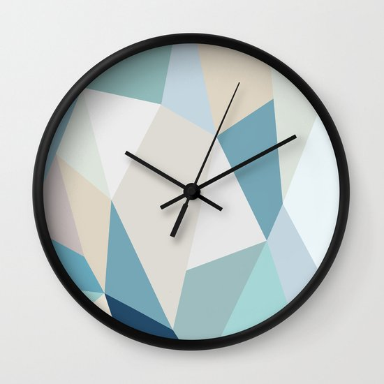 SPRING LOVE { BLUE } Wall Clock