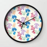 Summer Clothes Wall Clock