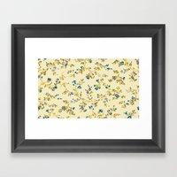 Vintage Floral Print Framed Art Print