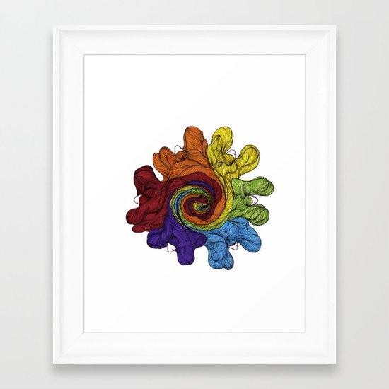 Colour Wheel Framed Art Print
