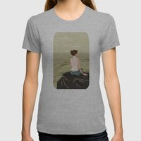 Girl By The Sea Womens Fitted Tee Athletic Grey SMALL