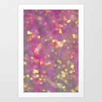 Purple Bling Art Print
