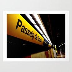 Barcelona Metro Art Print