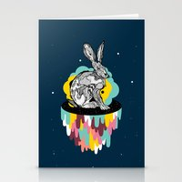 Space Rabbit Stationery Cards