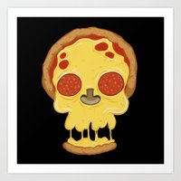 Deadly pizza Art Print