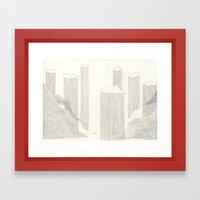I design fjords. Framed Art Print