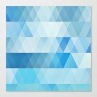 Summer beach geometric pattern Canvas Print