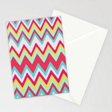 GIRLY SURF CHEVRON Stationery Cards