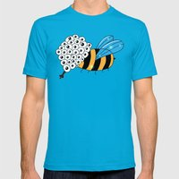 Let it bee Mens Fitted Tee Teal SMALL