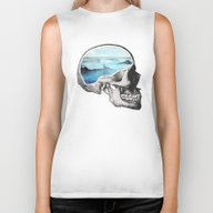 Biker Tank featuring Brain Waves by Chase Kunz