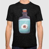 Eye In A Bottle Mens Fitted Tee Tri-Black SMALL