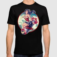 WONDERBOMB Mens Fitted Tee Black SMALL