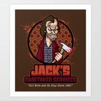 Jack's Caretaker Services Art Print