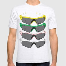 Tour de France Glasses Mens Fitted Tee Ash Grey SMALL