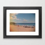 Spanish Sunbathers Framed Art Print