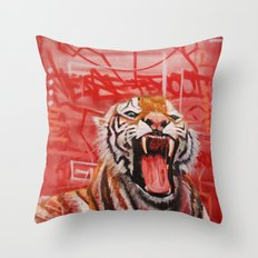 Intense Ferocity Throw Pillow