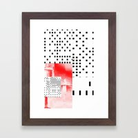 Boxes Framed Art Print