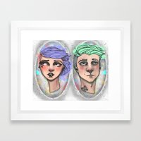 Punk Outside The Lines Framed Art Print