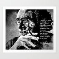 Charles Bukowski - Black… Art Print