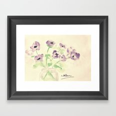 A Jar of Violets  Framed Art Print