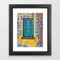 Shutters Framed Art Print