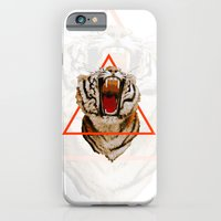 iPhone & iPod Case featuring Triangle Tiger by KARAM