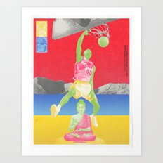Valiantly Strive To Banish & Annihilate The Buddha Art Print