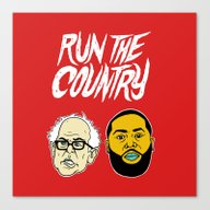 Run The Country Canvas Print