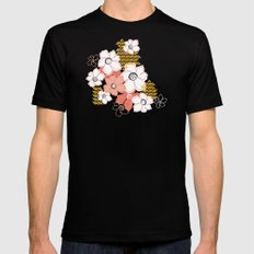 Petals & Pods - Sorbet SMALL Black Mens Fitted Tee