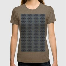 Pastel Blue Flower Patte… Womens Fitted Tee Tri-Coffee SMALL
