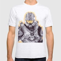 Halo Master Chief Mens Fitted Tee Ash Grey SMALL