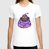 Wormy Womens Fitted Tee White SMALL